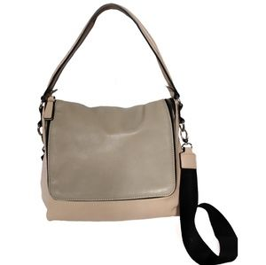 Neiman Marcus Faux Leather Crossbody Bag M/L